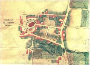 Plan de Seysses en 1808.